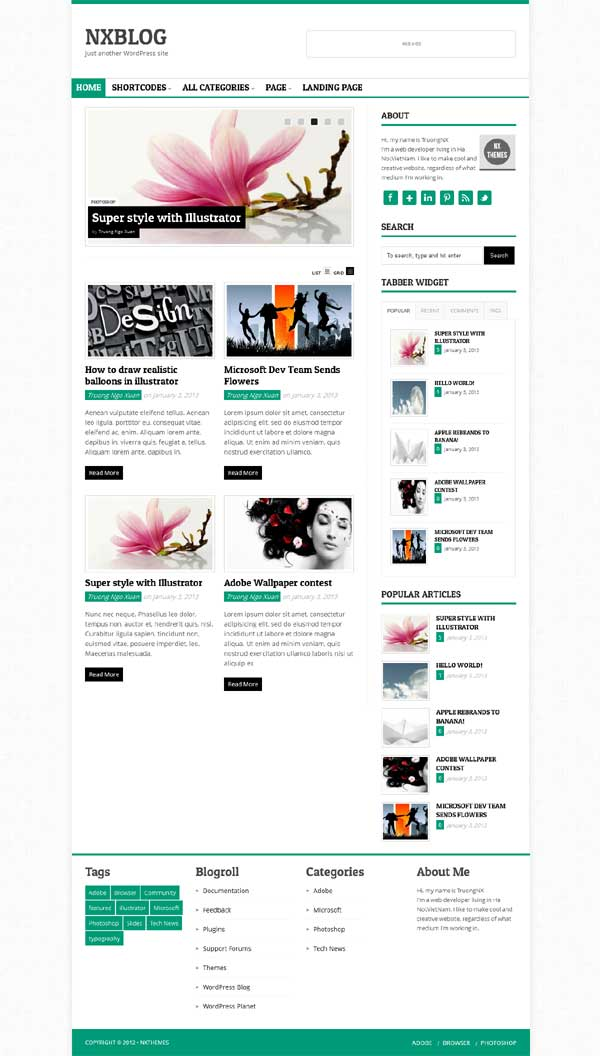 thesis 2.1 responsive blogging skin, thesis theme 2.1 blogging skin