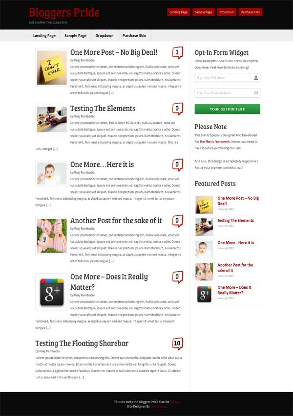 blog thesis 2.1 skin, wordpress thesis theme blog skin