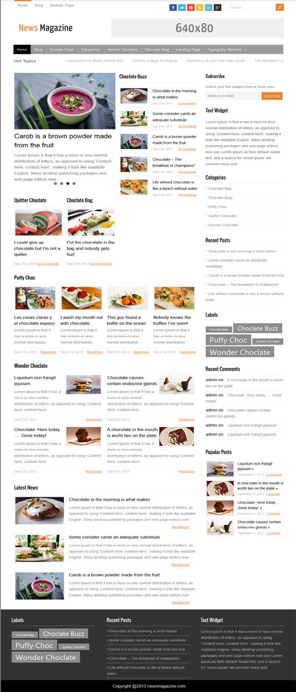 thesis 2.1 magazine skin, thesis theme news skin