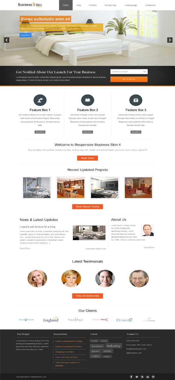 thesis 2.1 responsive business skin, thesis 2.1 premium business skin