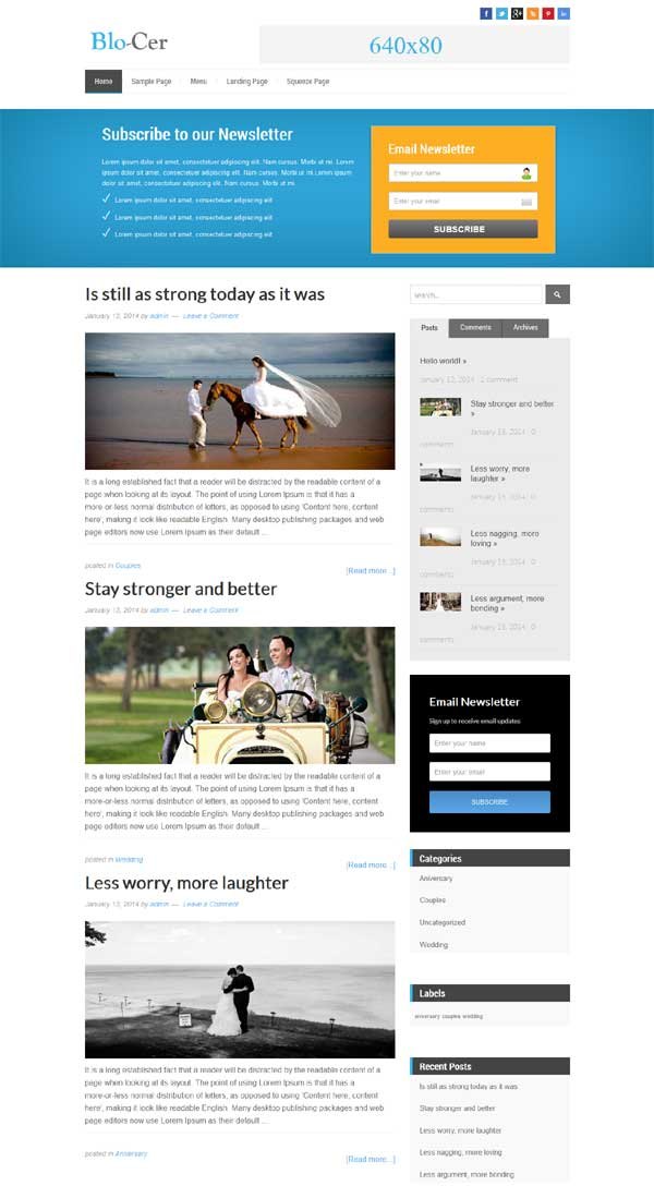blo-cer blog theme