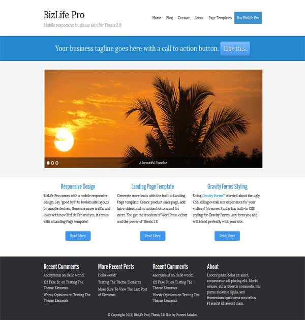 popular thesis theme business skin, portfolio thesis responsive skin
