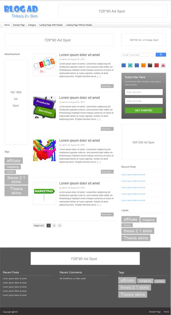 blog skin for thesis, responsive thesis 2.1 skin for blog
