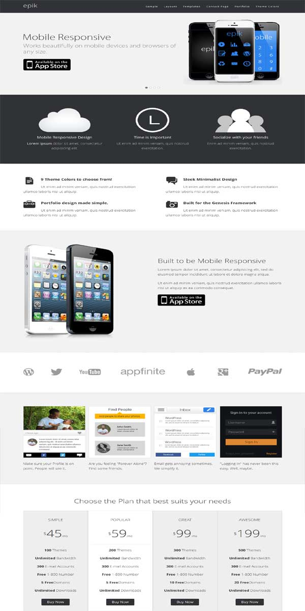 epik business child themes, responsive genesis child themes
