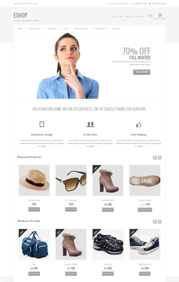 genesis ecommerce child theme
