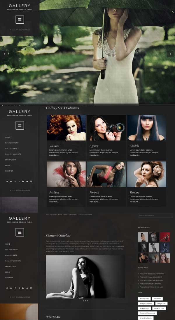gallery photographer genesis child theme