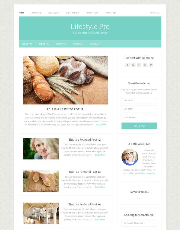 lifestyle pro mobile responsive genesis theme