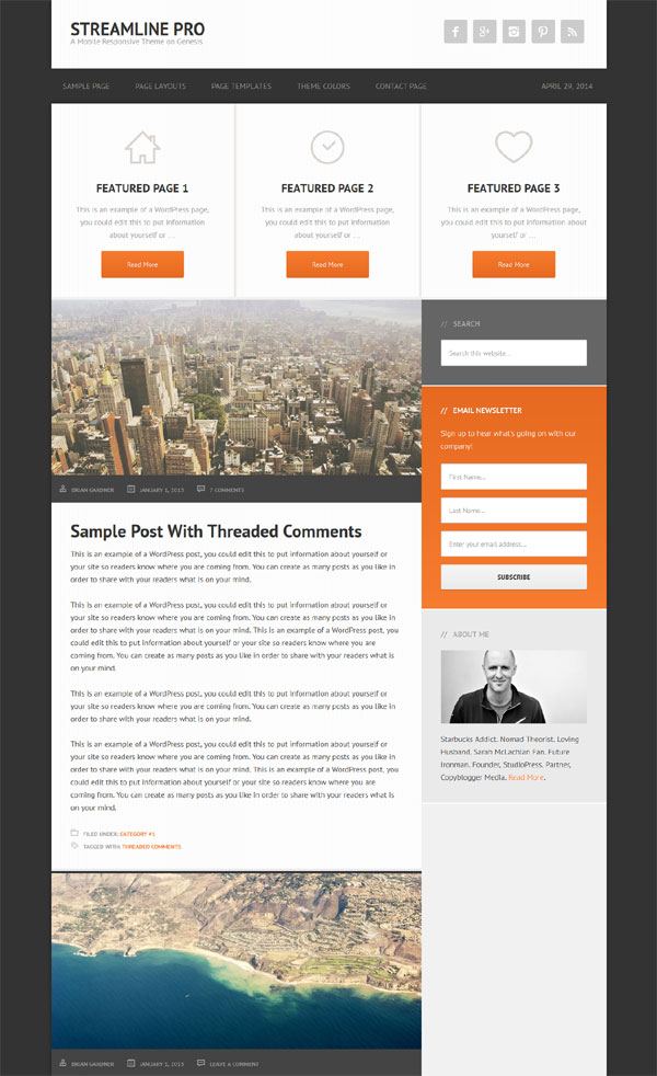 streamline pro blog theme